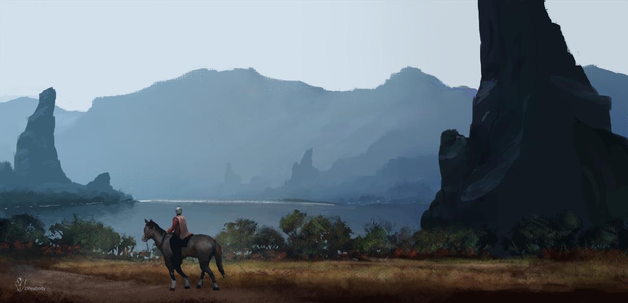 Fantasy Landscape IV by jjpeabody