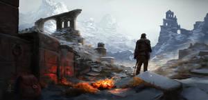 Ruins by Fireside