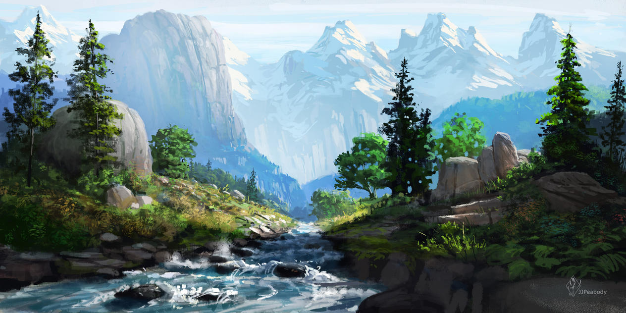 Alpine River by jjpeabody