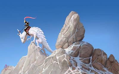 Great Horned Lizard Rider