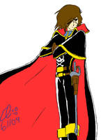 Captain Harlock by Commie-Panda