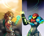 Link and Samus compare their Glow
