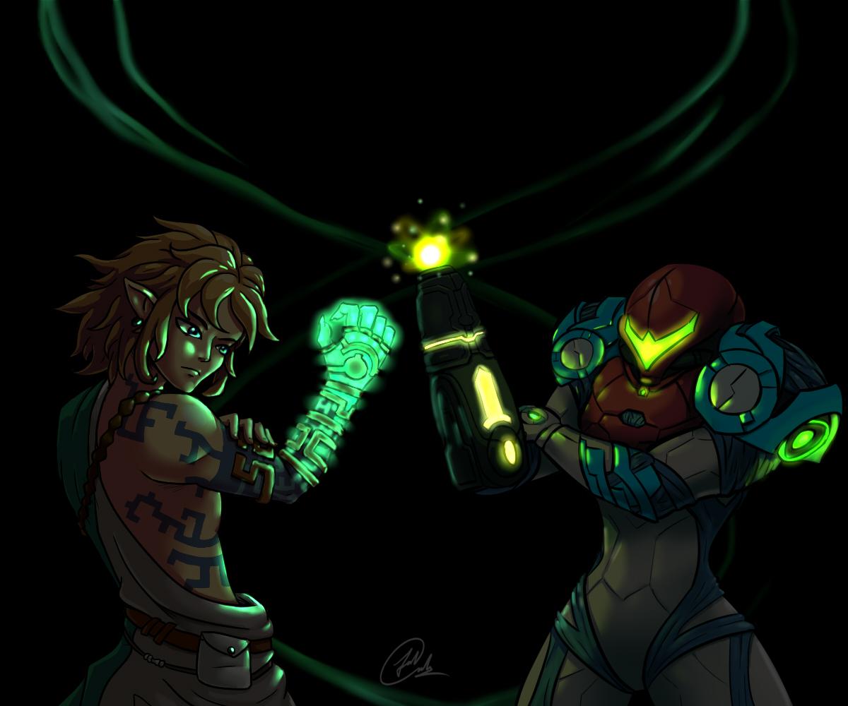Link and Samus compare their Glow  DARKEST