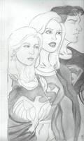 superboy,supergirl and wondergirl
