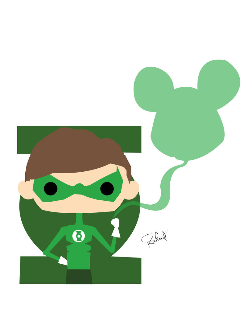 Green Lantern and Mickey Mouse by RLotus