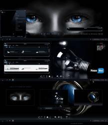 A-Blue Black ( Windowblinds Theme ) by adni18