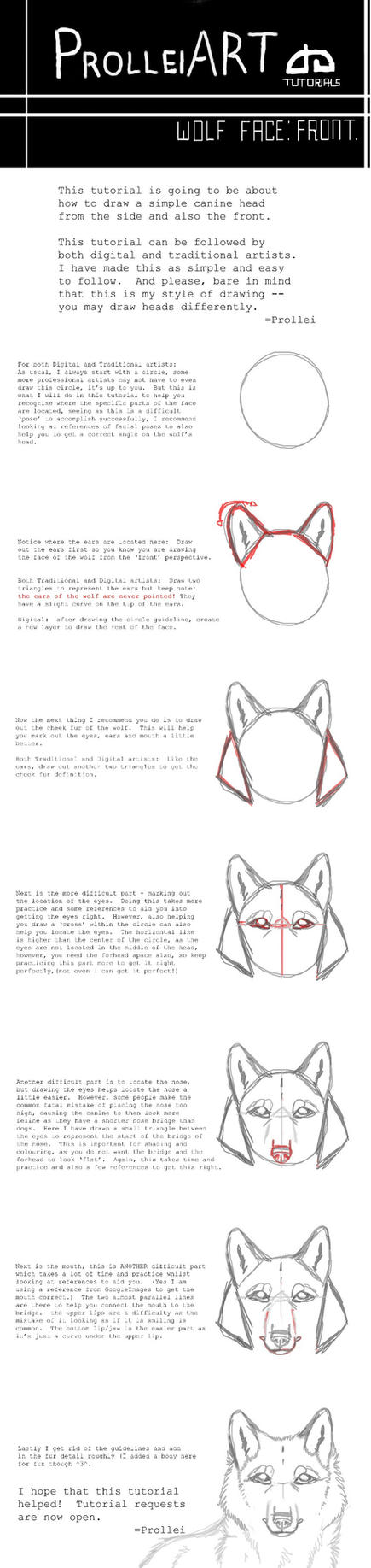 Slayersstronghold 57 9 Wolf Face Tutorial By Slickbrush