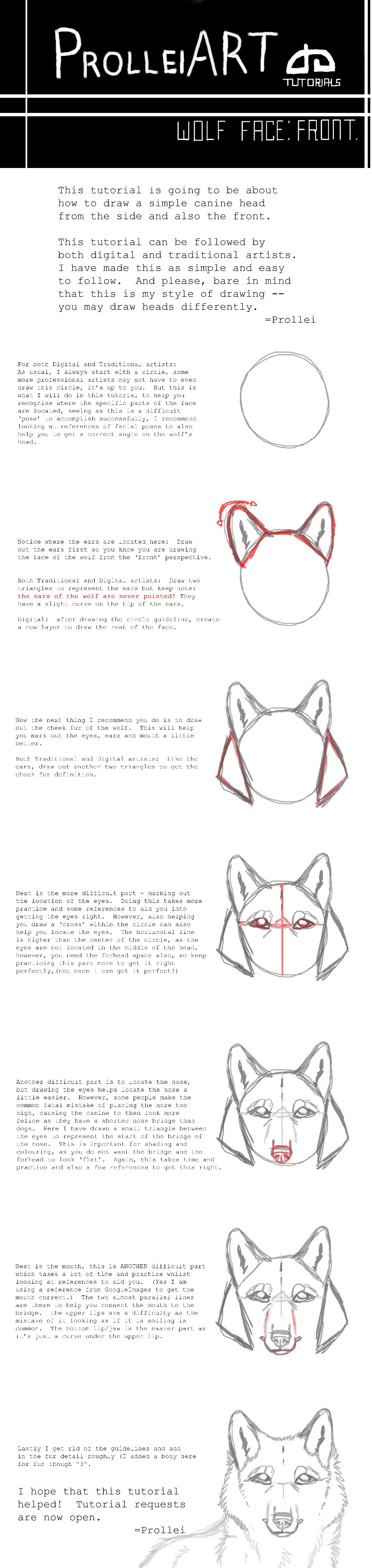 Wolf Face Tutorial By Slickbrush Wolf Face Tutorial By Slickbrush