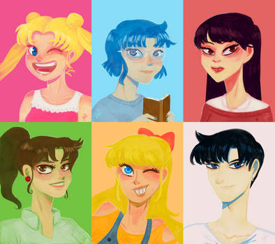 Sailor Moon Portraits by YazzyDream