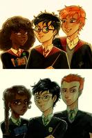 Gryffindor Trio/Slytherin Trio