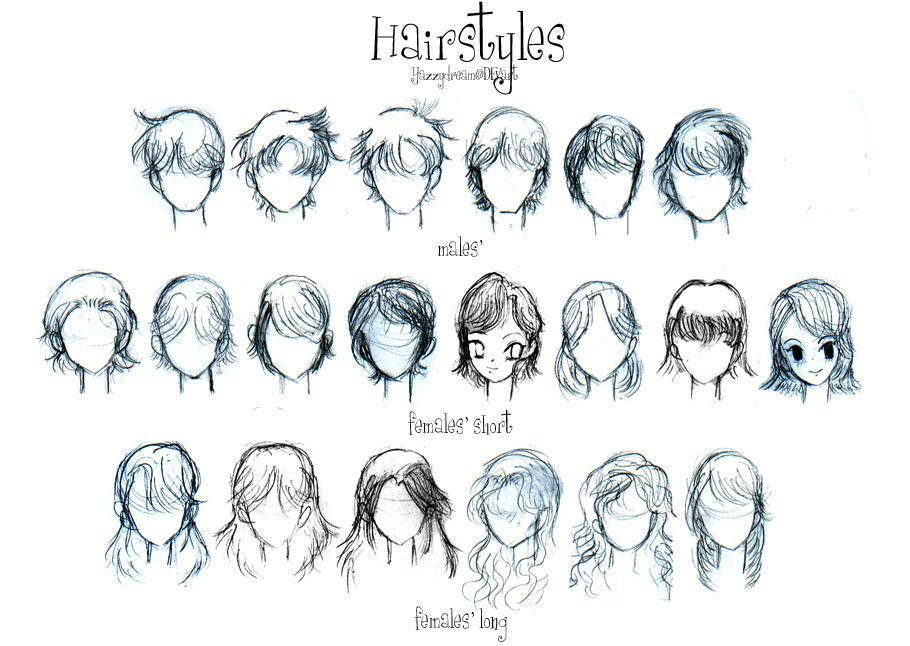 Come disegnare i capelli in stile anime