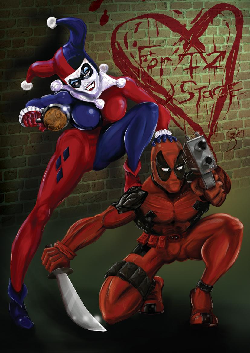 Harley quinn and deadpool by marvtmartian on deviantart - Deadpool harley quinn ...