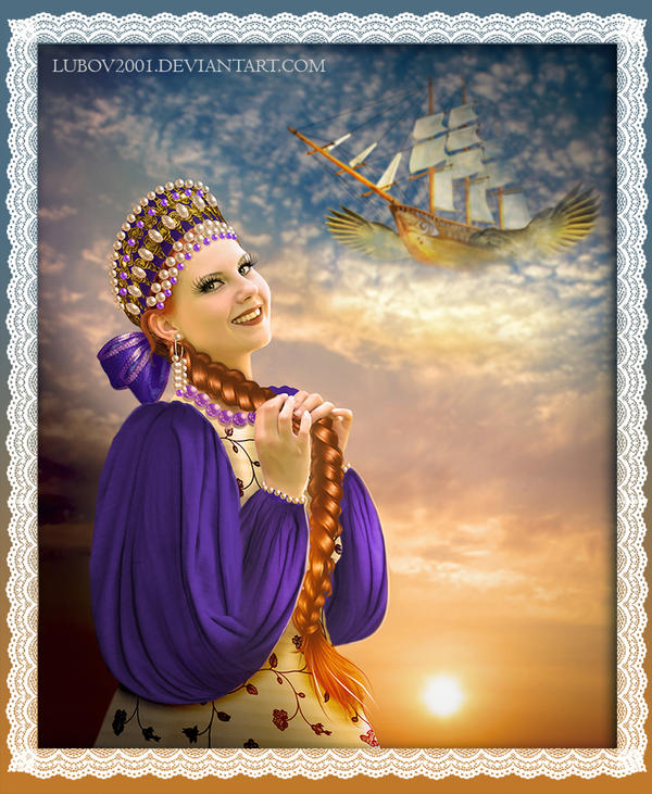 Fun Princess of flying ship