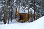 Snowy house by Lubov2001