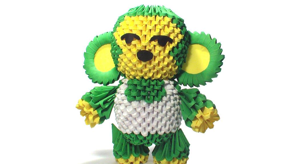 3D Origami Monkey By Girnelis