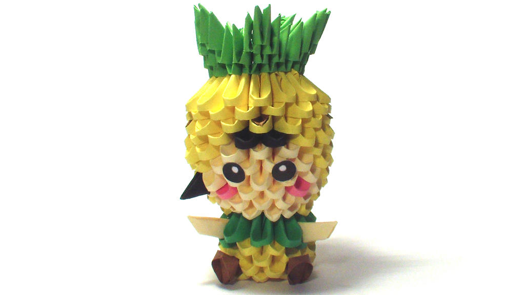 3d Origami Pineapple Kid By Girnelis On Deviantart