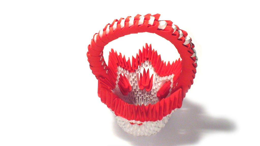 3d origami flower basket by girnelis on deviantart 3d origami flower basket by girnelis mightylinksfo