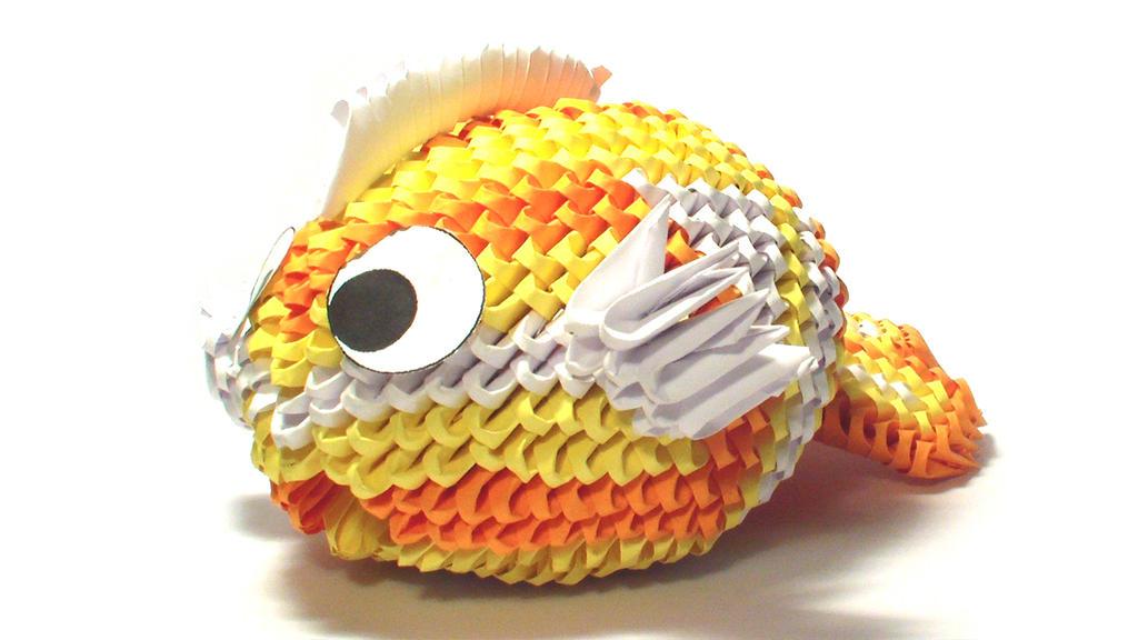 3d origami koi fish by girnelis on deviantart for Origami koi fish