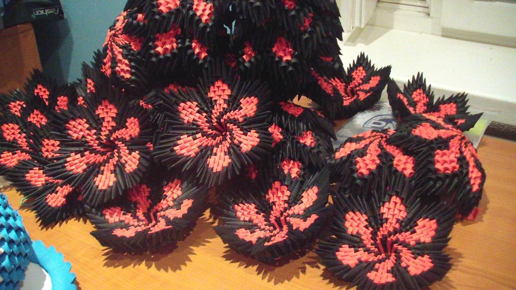 3d origami flowers by girnelis on deviantart 3d origami flowers by girnelis mightylinksfo
