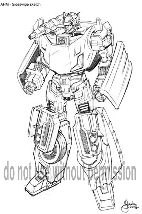 transformers coloring pages side swiper - photo#15