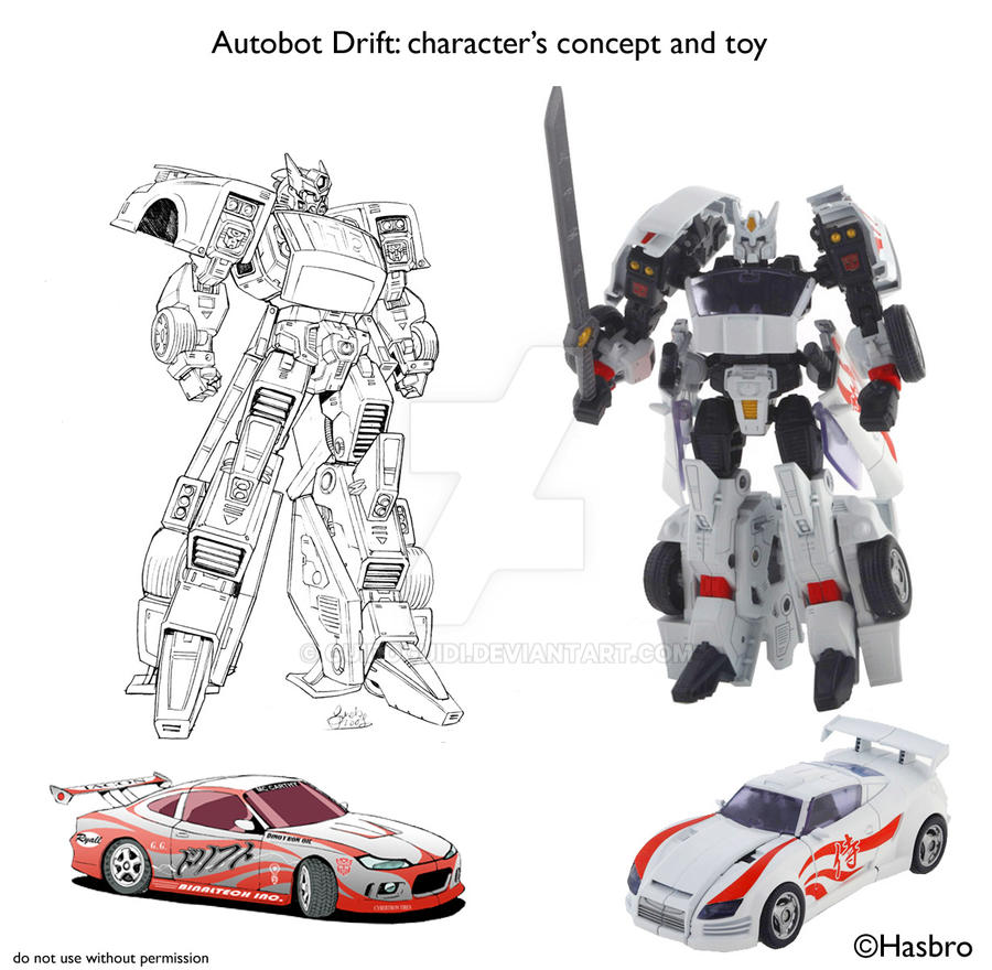 Question: Quel fut votre 1er jouet Transformers et quel fut votre 1er personnage Transformers préféré? Drift___from_comic_to_toy_by_guidoguidi-d1joo10