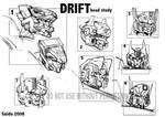 DRIFT - early head sketches
