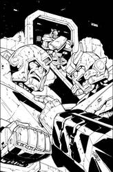 ALL HAIL MEGATRON 4 COVER inks by GuidoGuidi