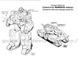 Warpath Cybertronian design by GuidoGuidi