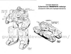 Warpath Cybertronian design