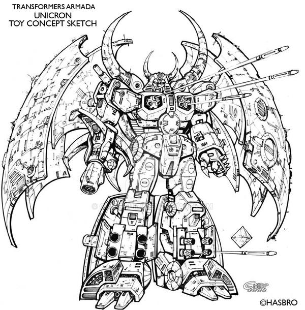 UNICRON Toy concept sketch by GuidoGuidi