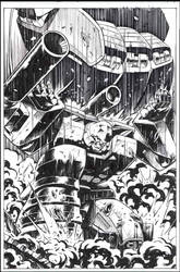 Megatron vs Devastator inks by GuidoGuidi