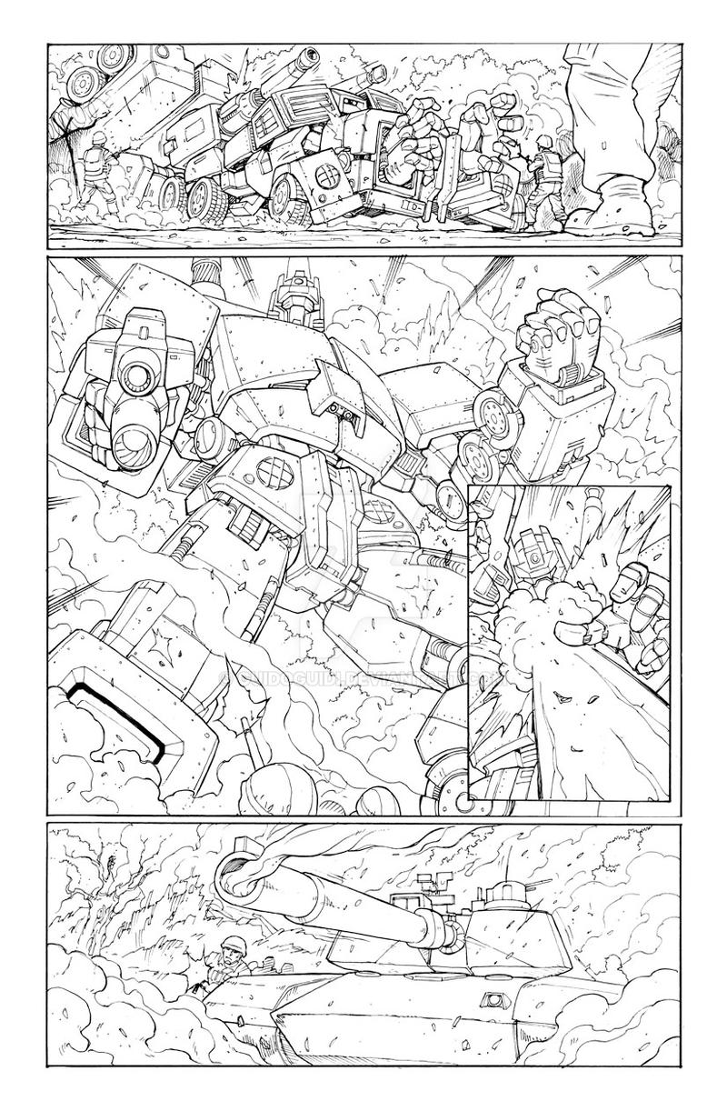 Transformers 9 - P.5 Lineart