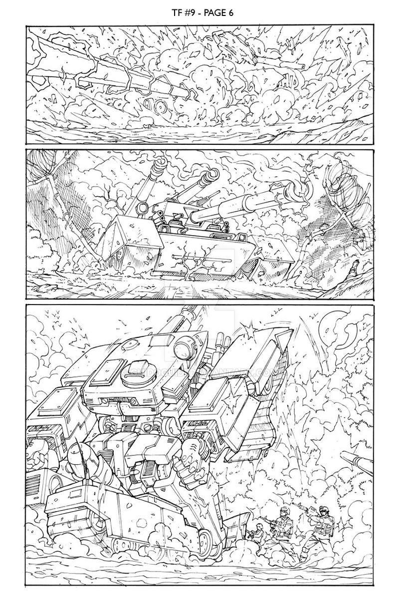 Transformers 9 - P.6 Lineart