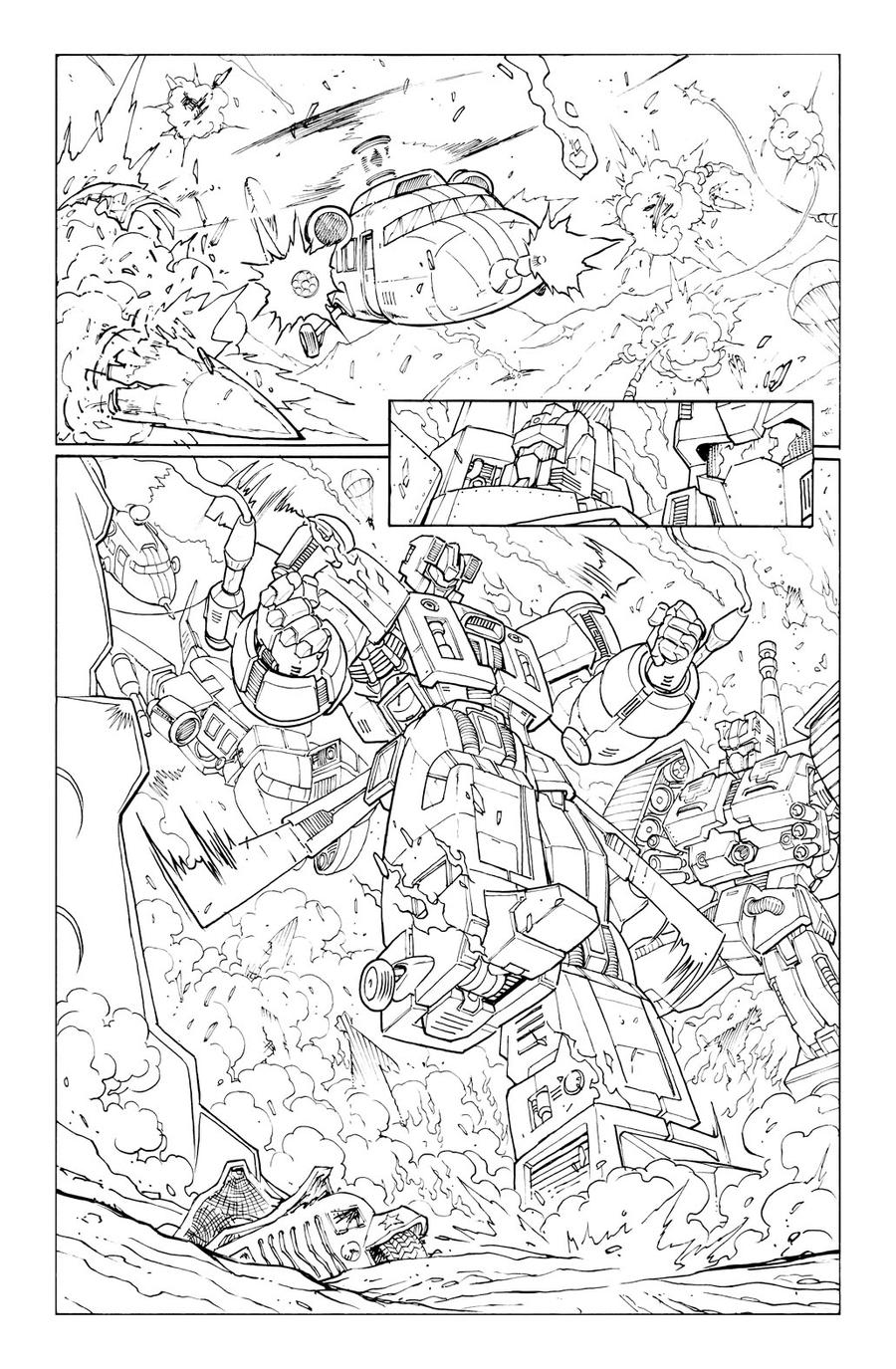 Transformers 9 - P.8 Lineart