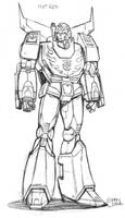 AHM Hot Rodimus prelim. sketch