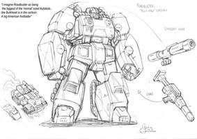 AHM Roadbuster prelim. sketch by GuidoGuidi