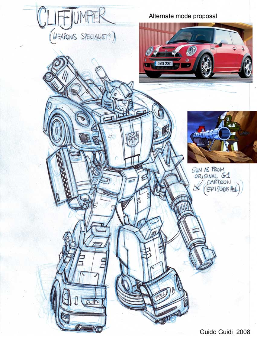AHM Cliffjumper prelim sketch by GuidoGuidi