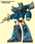 G1 BARRICADE - Retro Style '80