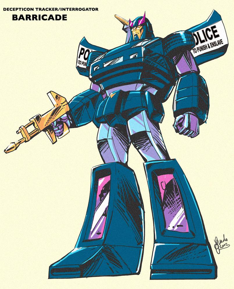 '80 Retro style G1 Barricade - black version by GuidoGuidi