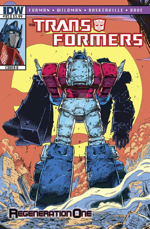 Transformers Regeneration One #85 - Retro Cover