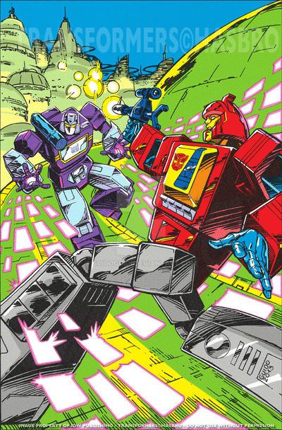 Transformers Regeneration one #95 retro cover by GuidoGuidi