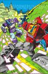 Transformers Regeneration one #95 retro cover