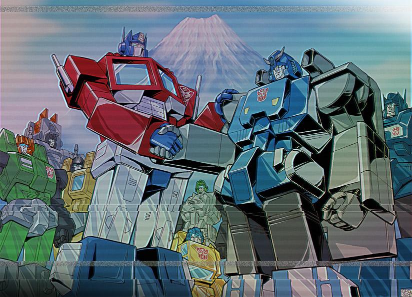 When Optimus met the Trainbots by GuidoGuidi
