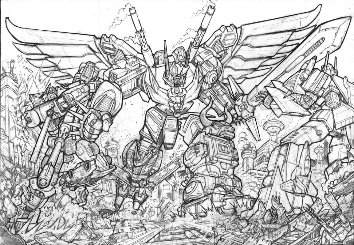 Predaking transformers coloring pages ~ DW Predaking litho pencils by GuidoGuidi on DeviantArt