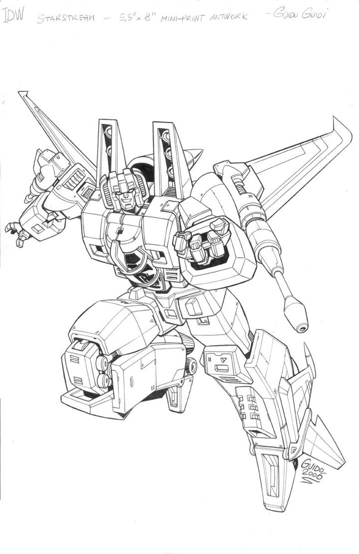 Idw starscream card by guidoguidi on deviantart for Transformers g1 coloring pages