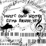 Music Notes Gimp Brush Set