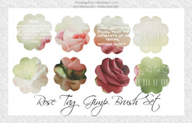 Rose Tag Gimp Brush Set by stormingdance