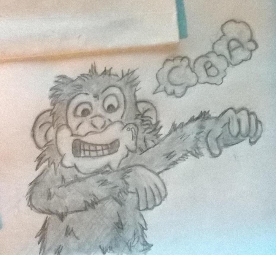 Rabid Monkey by JosefSebon