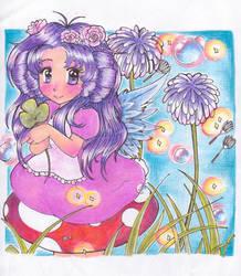 Fairy on a Mushroom by Frogger277