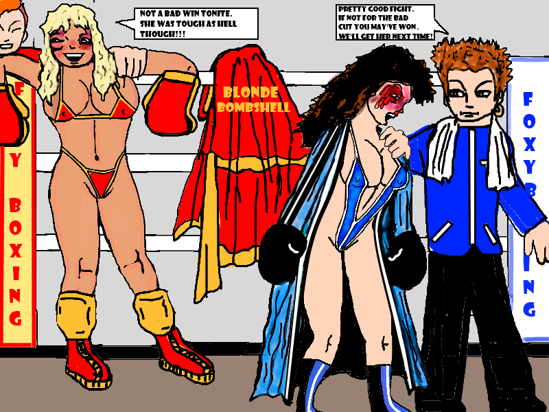 Conclusion of a Bikini Boxing Bout by ~bozeeke on deviantART
